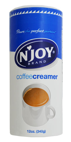 N'Joy Non-Dairy Creamer Canister - (24) 12 oz canisters/case