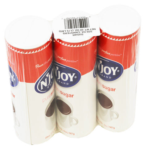 N'Joy Sugar Canister - (8) 3pks 20 oz canisters/case
