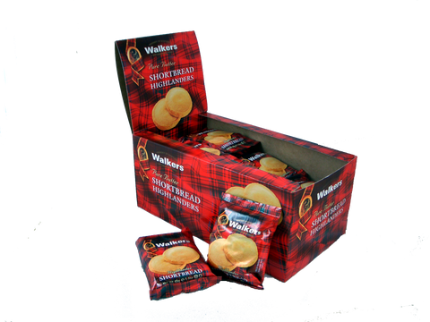Walkers Shortbread Highlanders 2 pk - (6) 24 pk boxes/case