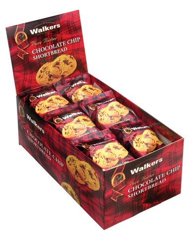 Walkers Chocolate Chip Rounds 2 pk - (6) 24 pk boxes/case
