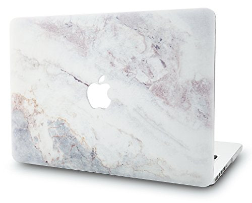 KEC MacBook Pro 13 Inch (2017 & 2016 Touch Bar) Case Cover Marble Plastic Hard Shell A1706 / A1708 (White Marble 2)