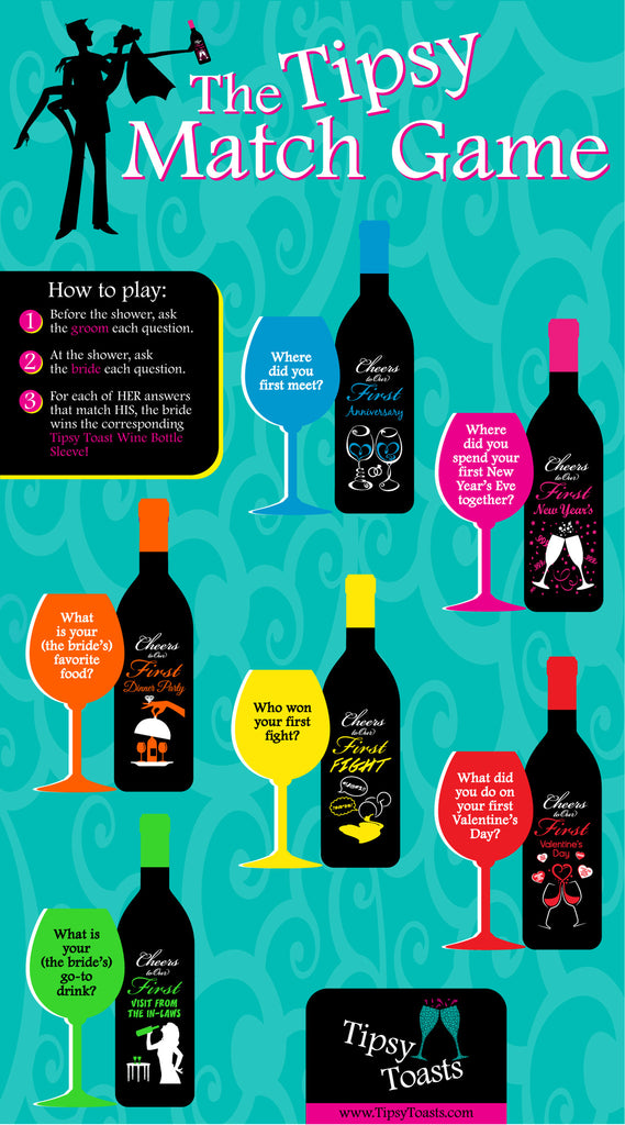 The Tipsy Match Game - The Bride Wins Wine