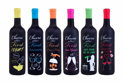 Tipsy Toasts Wine Bottle Covers for the First Year of Marriage