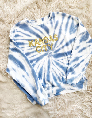 Tie Dye Kansas City Sequin Pullover