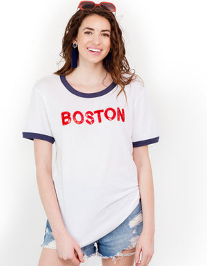 Boston Sequin Ringer Tee