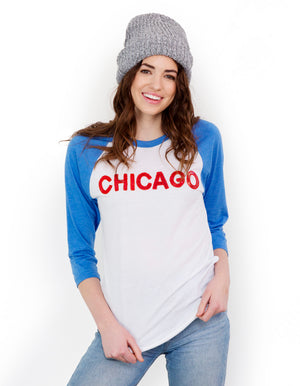Chicago Sequin Baseball Tee