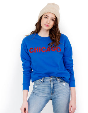 Royal Blue Chicago Sequin Sweatshirt