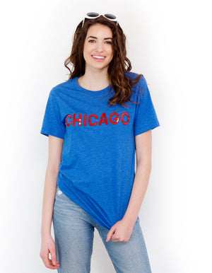 Chicago Sequin Crew Tee