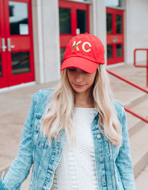 Red KC Sequin Hat