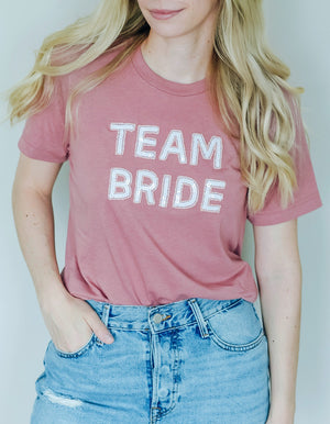 Team Bride T-Shirt - Mauve
