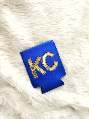Blue KC Sequin Koozie