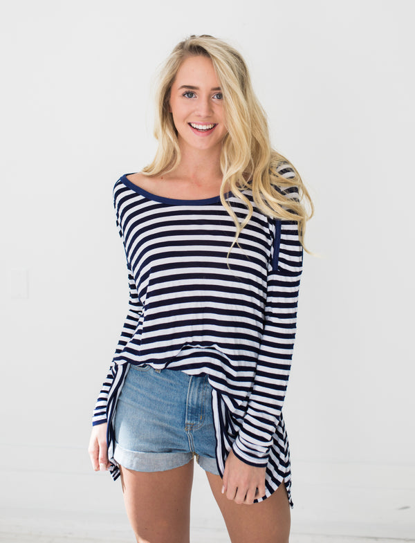 Grace Top in Navy
