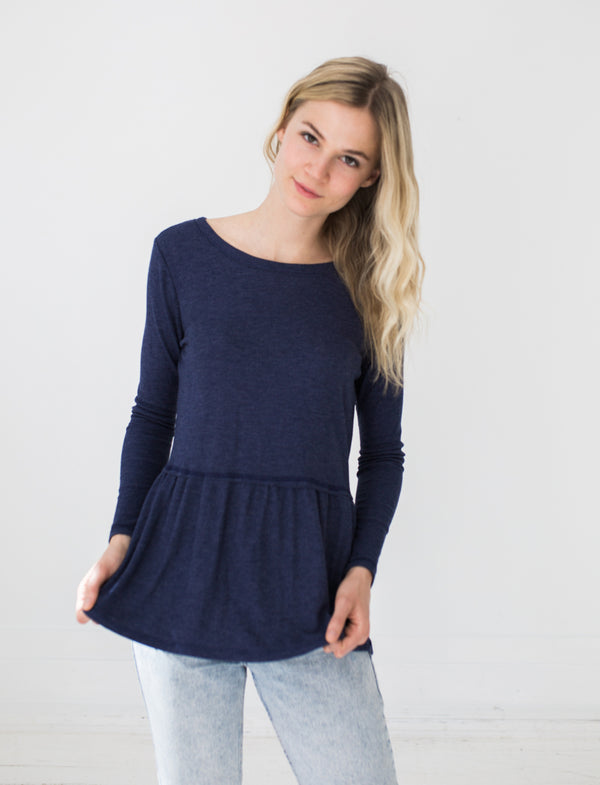 Emma Top in Navy