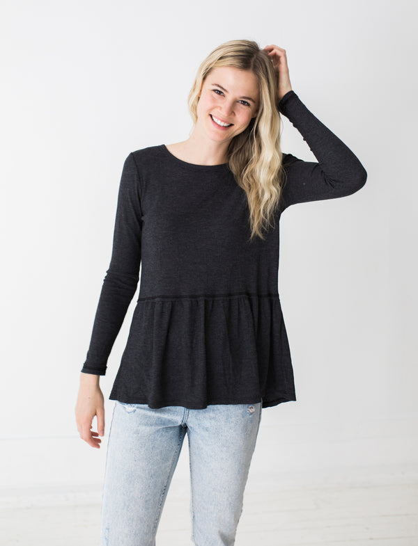 Emma Top in Charcoal