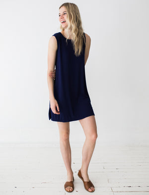 Campbell Dress in Navy