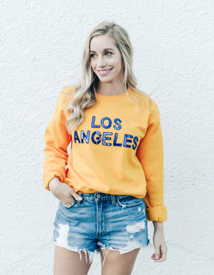 Los Angeles Gold Sequin Sweatshirt