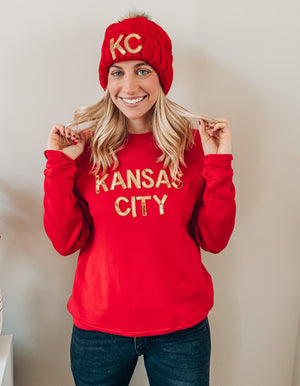 Red Kansas City Sequin Sweatshirt