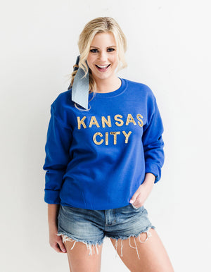 Royal Blue Kansas City Sequin Sweatshirt