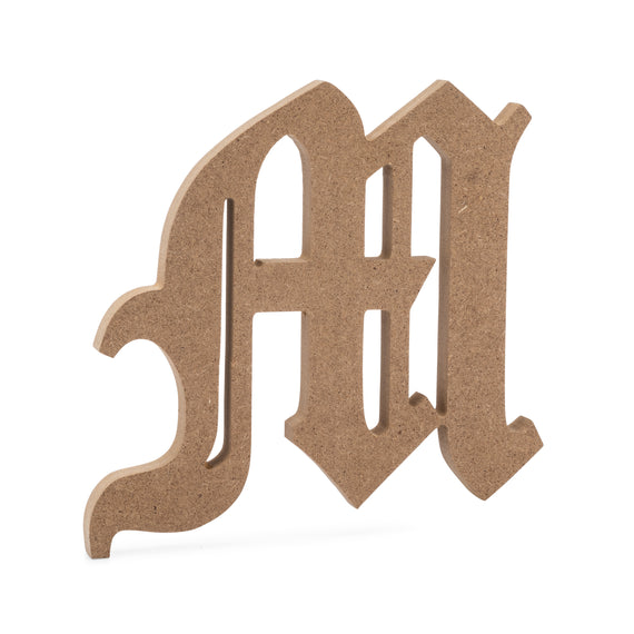 JoePauls Crafts Premium MDF Wood Wall Letters 6 Old English Wooden Letter R 6 inch, R