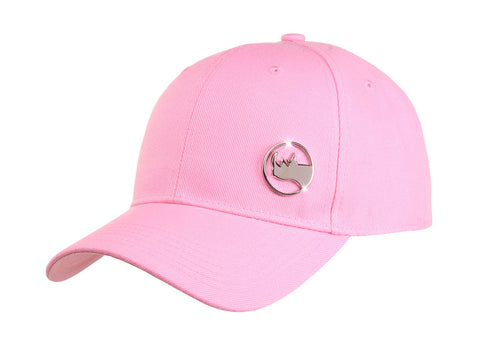 Metal Logo Pin Hat - Pink