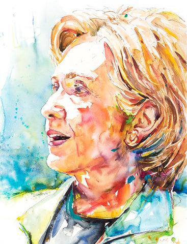 Print of David Lobenberg's Hillary