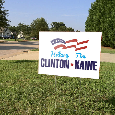 Hillary & Tim Yard Sign