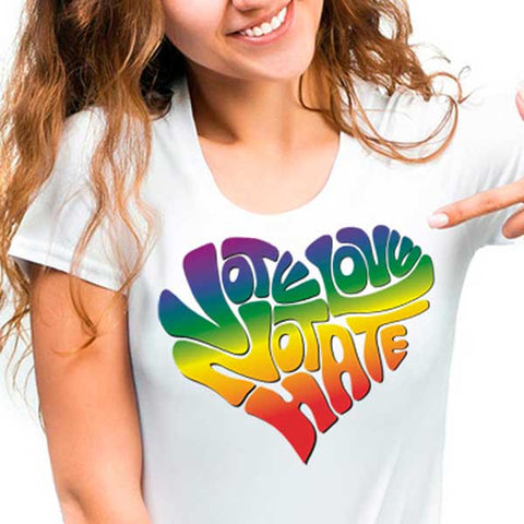 Vote Love Not Hate Tee Shirt