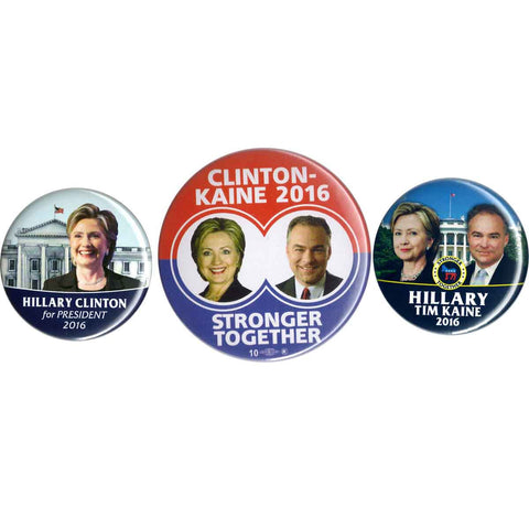 Hillary & Tim Button Set