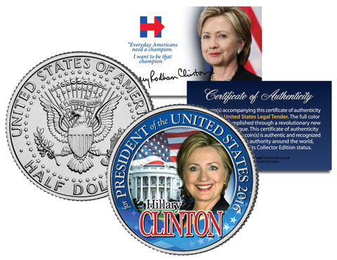 Coins & Currency - Hillary Clinton 2016 Collectible Presidential Half Dollar Coin