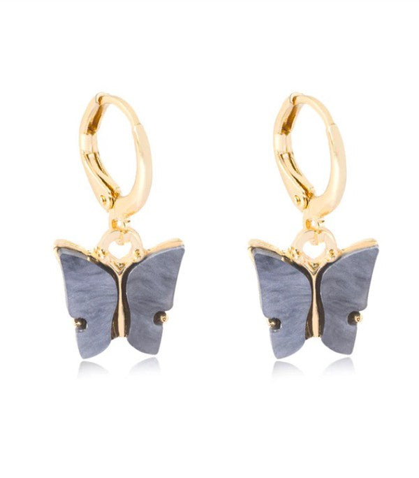 Mia Earrings - Gray