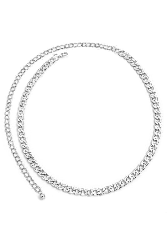 Elle Chain Belt - Silver
