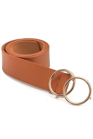 Double Ring Belt - Brown