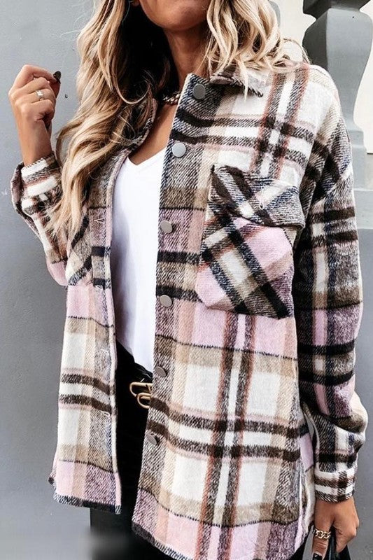 Set Them Straight Plaid Jacket
