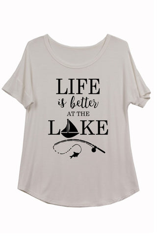 Life Is Better At The Lake Print Tee