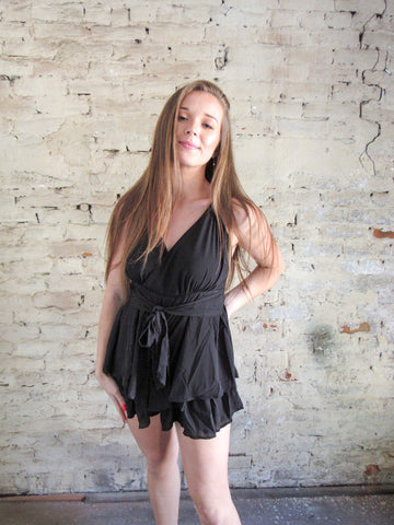 Feeling Seen Romper - Black