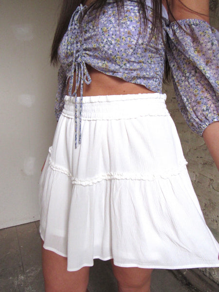 Life Of The Party Skirt- White