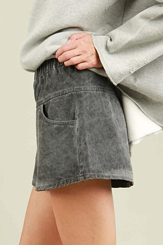 Denim Wash Shorts