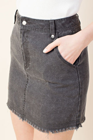 Gray Denim Skirt