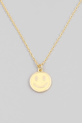 Smile More Necklace- Yellow