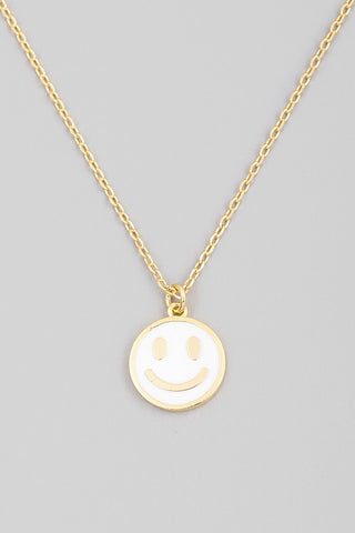 Smile More Necklace- White