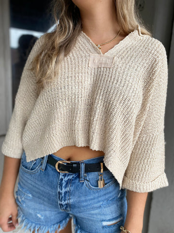 Falling For You Sweater Oat