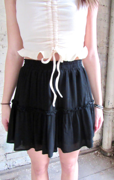 Life Of The Party Skirt- Black