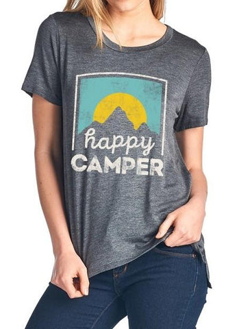 Happy Camper Print Tee