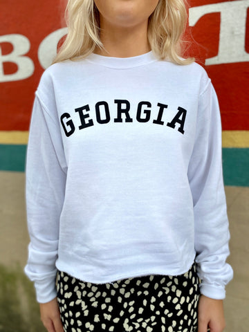 Georgia On My Mind Sweatshirt - White