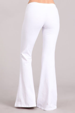 Flare Pants - White