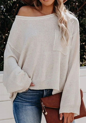 Can't Keep Up Sweater- White