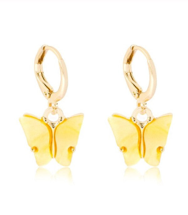 Mia Earrings - Yellow