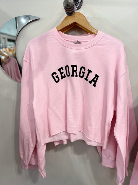 Georgia On My Mind Sweatshirt - Pink