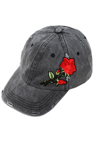 Embroidered Distressed Hat