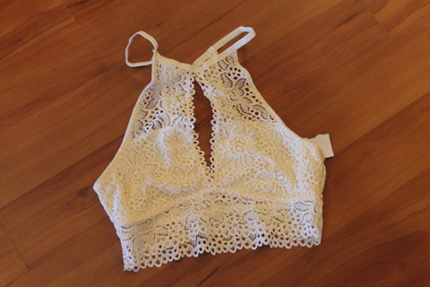 White Front Lace Bralette